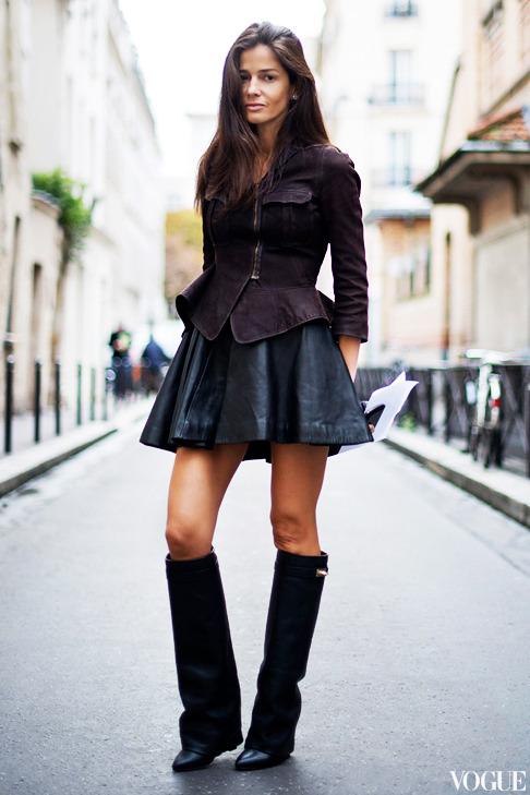 la-modella-mafia-Barbara-Martelo-fashion-editor-street-style-Spring-2013-fashion-week-Givenchy-leather-skirt